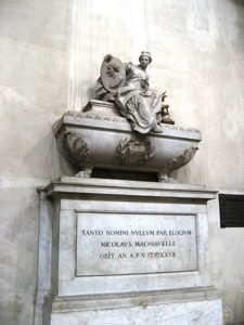 Machiavelli's Final Resting Place at Santa Croce's in Florence. He's probably turning in his grave.